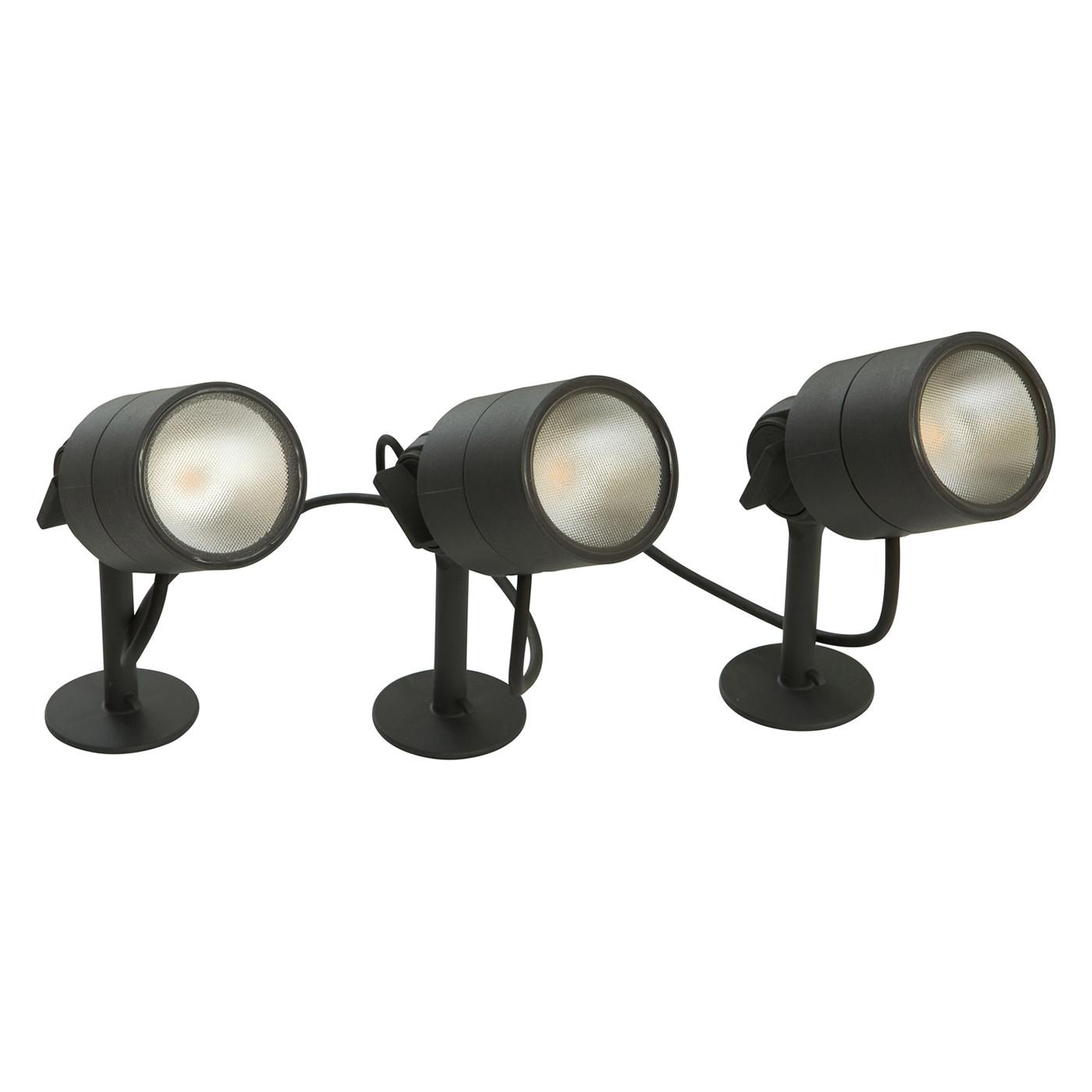 Bega 24366 LED-Gartenscheinwerfer 3er Set