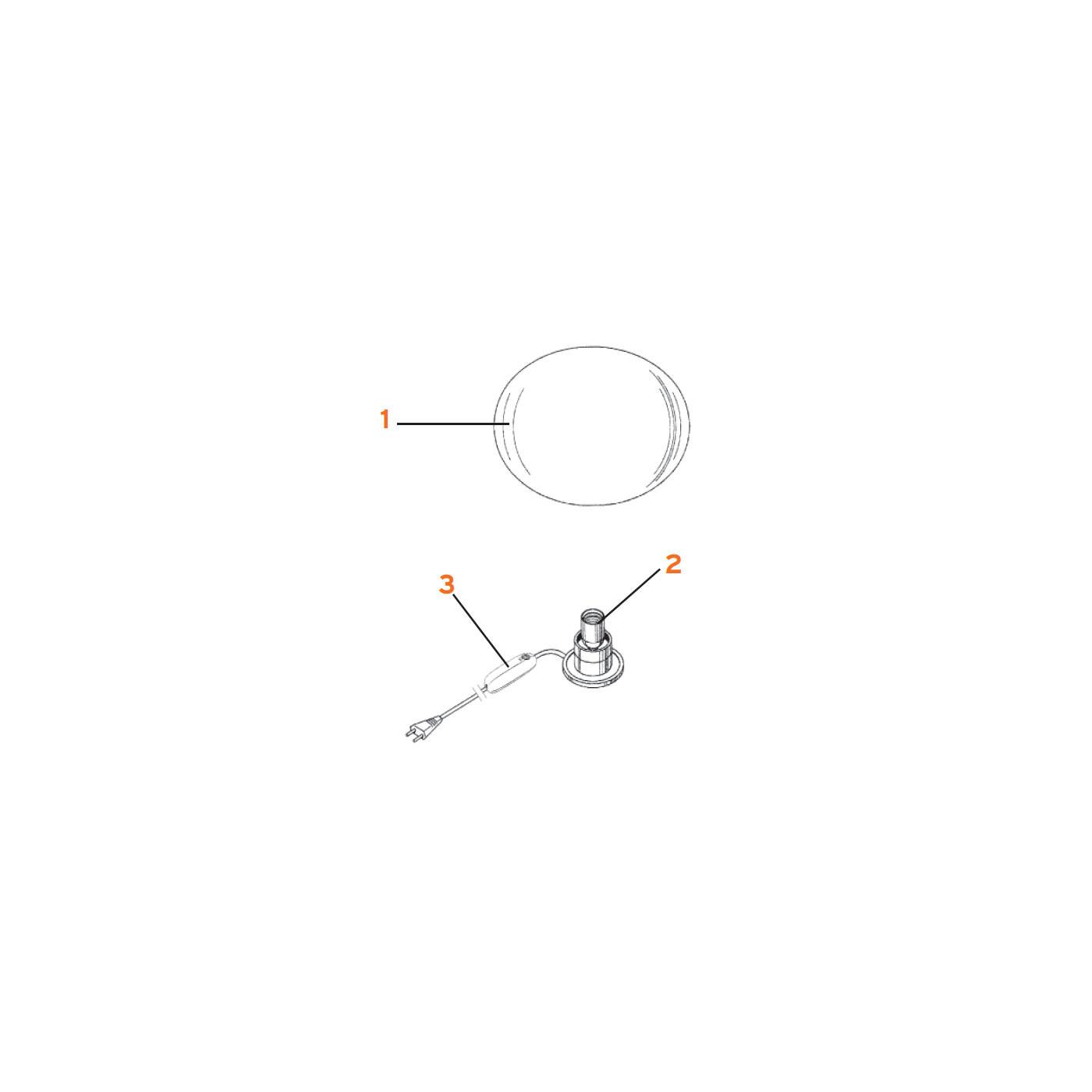 Flos Ersatzteile für Glo-Ball Basic 0