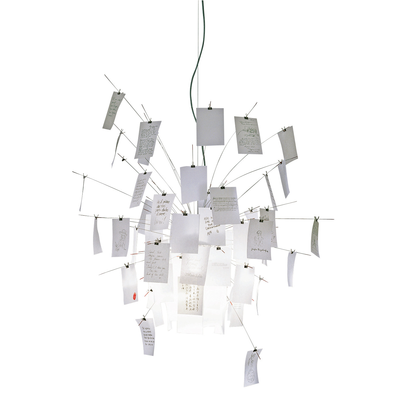 Lampe Suspension Papier Design ingo maurer zettel'z 6 pendant light