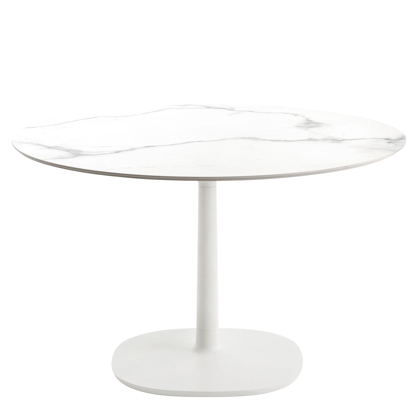 Kartell Multiplo Dining Table Ceramic Top Round Base Plate