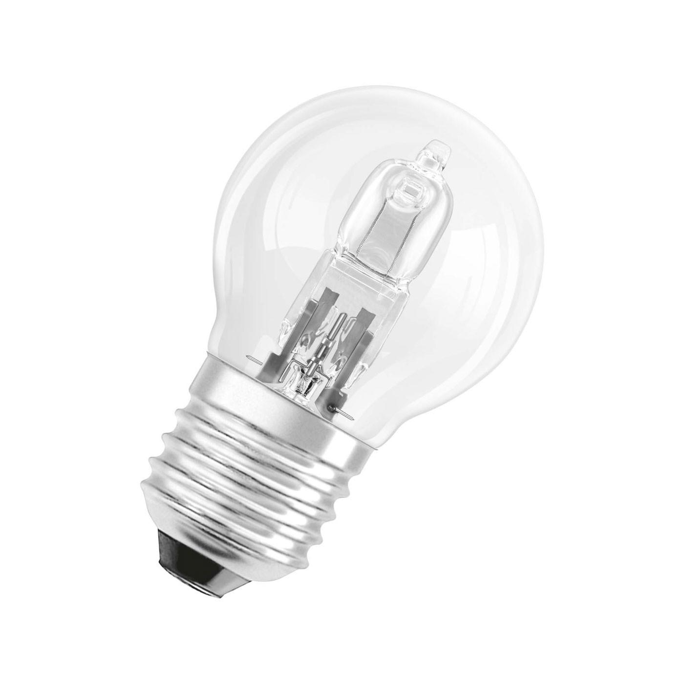 Osram Halogen-Tropfenlampe P45 20W 230V E27 klar (entspricht der herkömml. 25W Lampe)