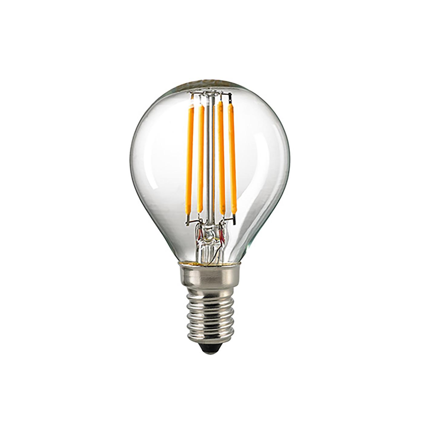 Sigor LED-Filament-Kugellampe P45 4,5W 2700K 230V E14 klar