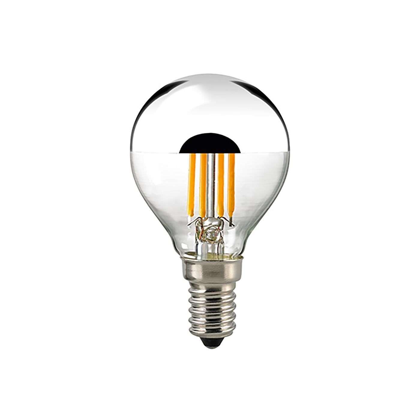 Sigor LED filament bulb shaped mirror head P45 4.5W 2700K 230V E27 clear
