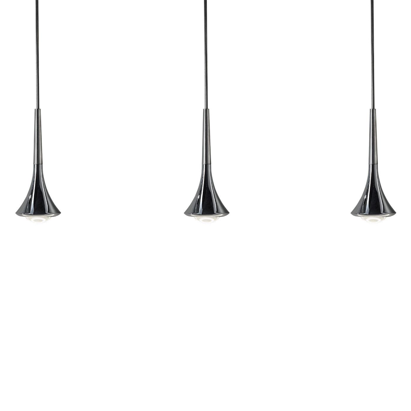 Studio Italia Design Rain suspension avec 3 lampes en enfilade