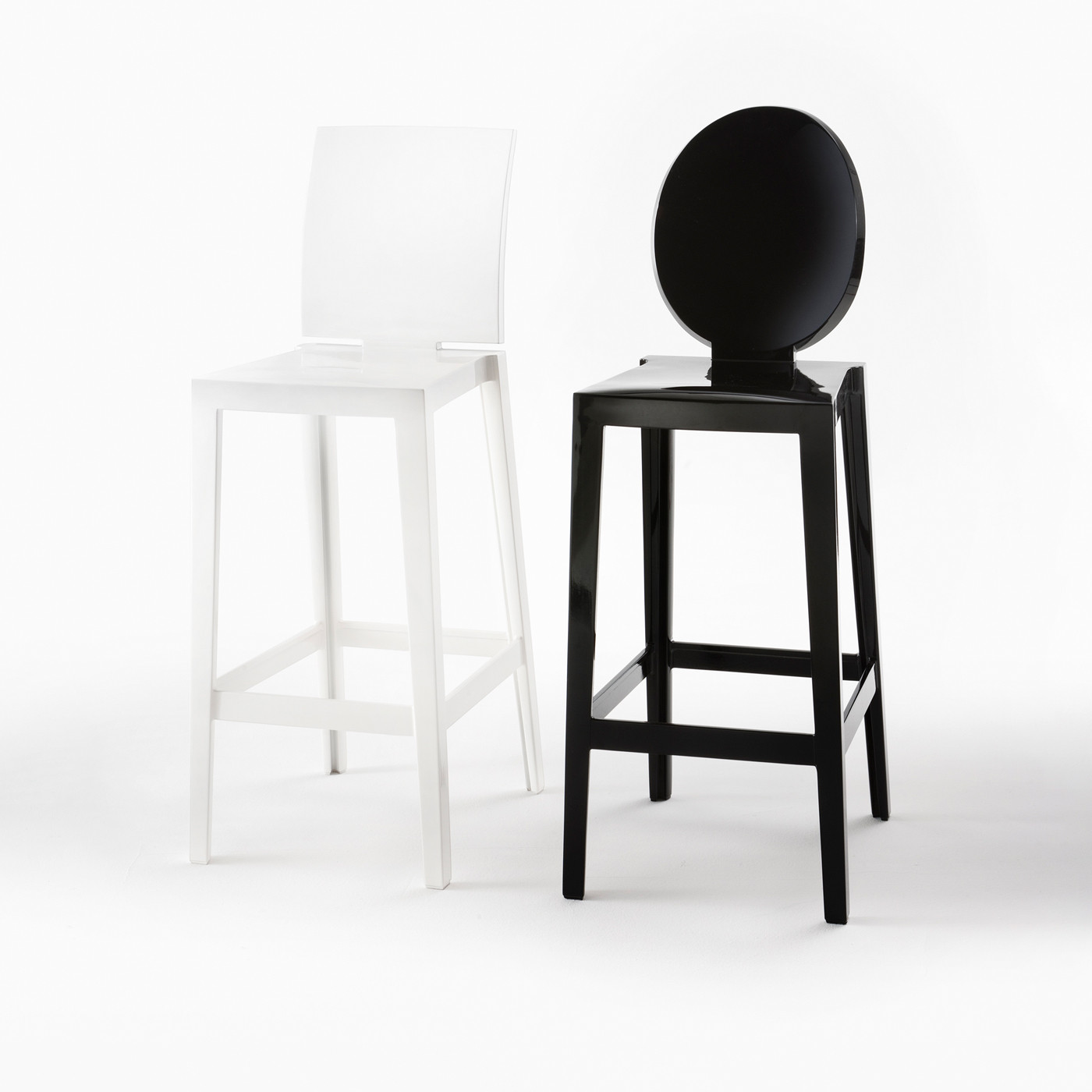 hauteur de d'assise Ghost MoreOne bar65 One tabouret Kartell Please cm More 8wmNy0Ovn