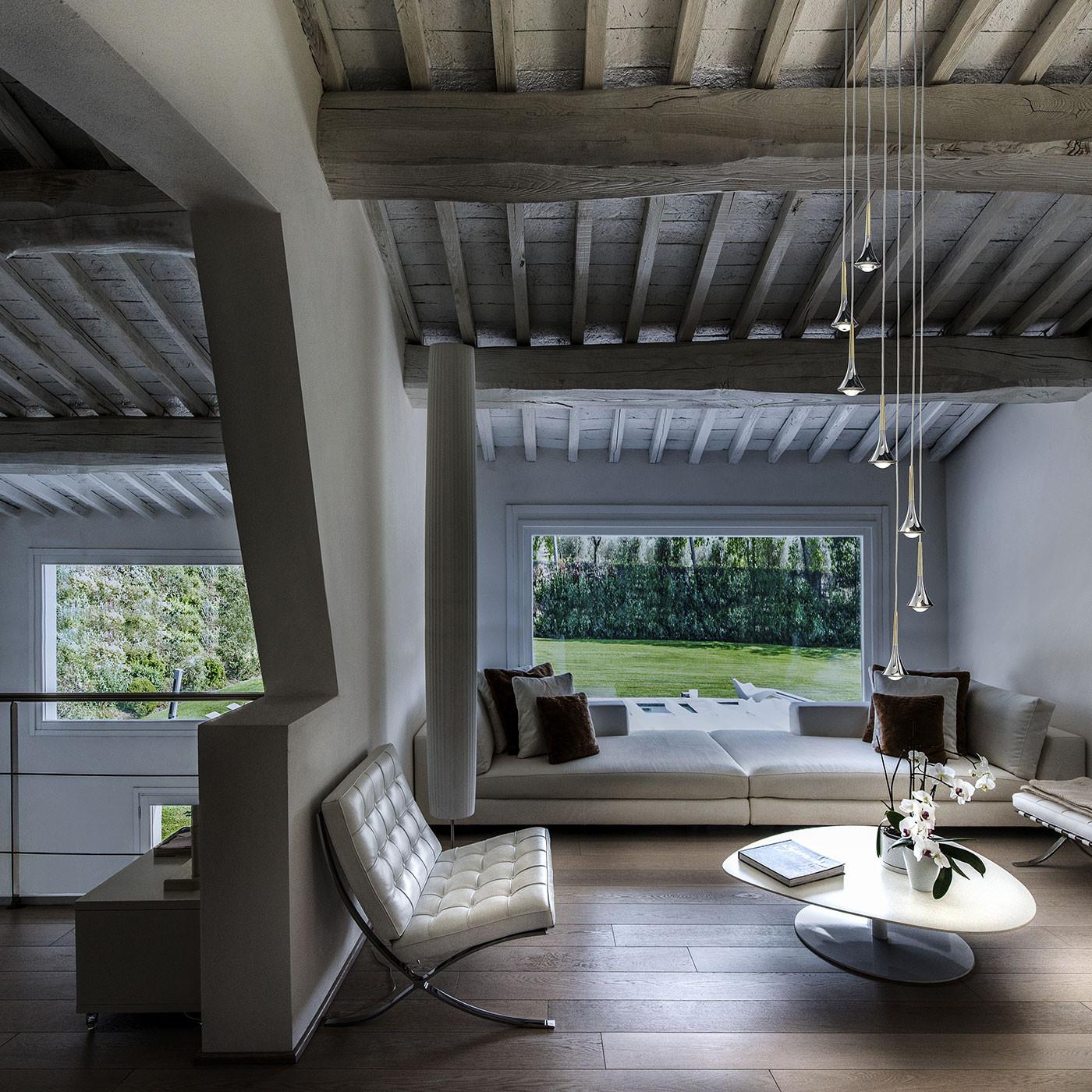 Studio Italia Design Rain suspension avec 7 lampes disposées en cercle