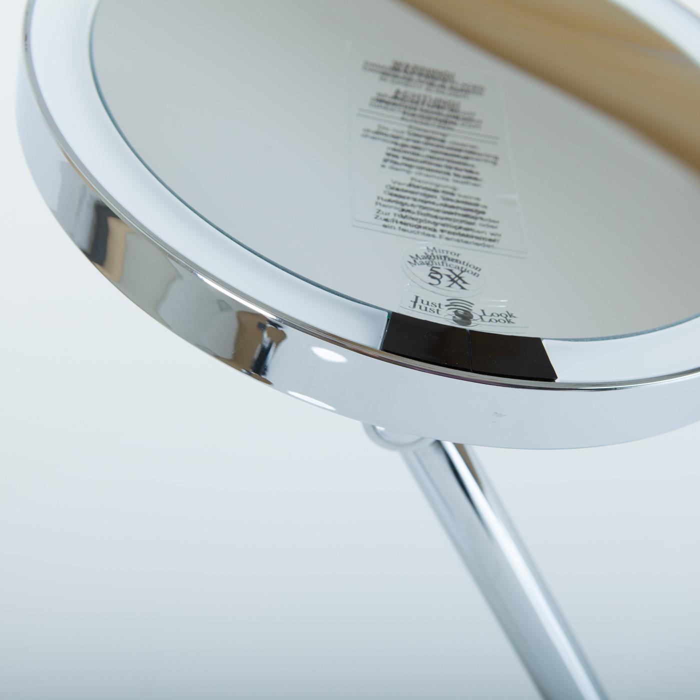 f/ür Direktanschluss mit Sensor JUST Look WD, Decor Walther LED Wandkosmetikspiegel 5X Chrom