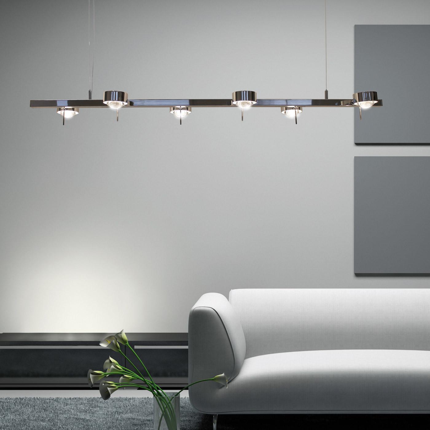 Top Light Puk Ceiling Sixtett suspension lamp, LED
