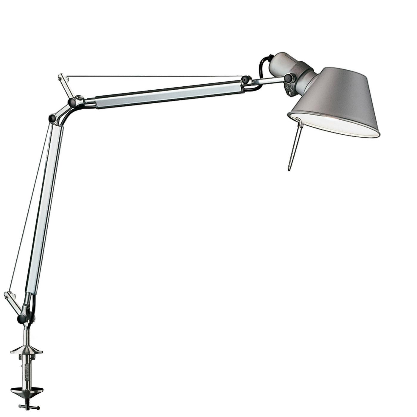 Artemide Tolomeo Mini LED mit Tischklemme und Bewegungssensor