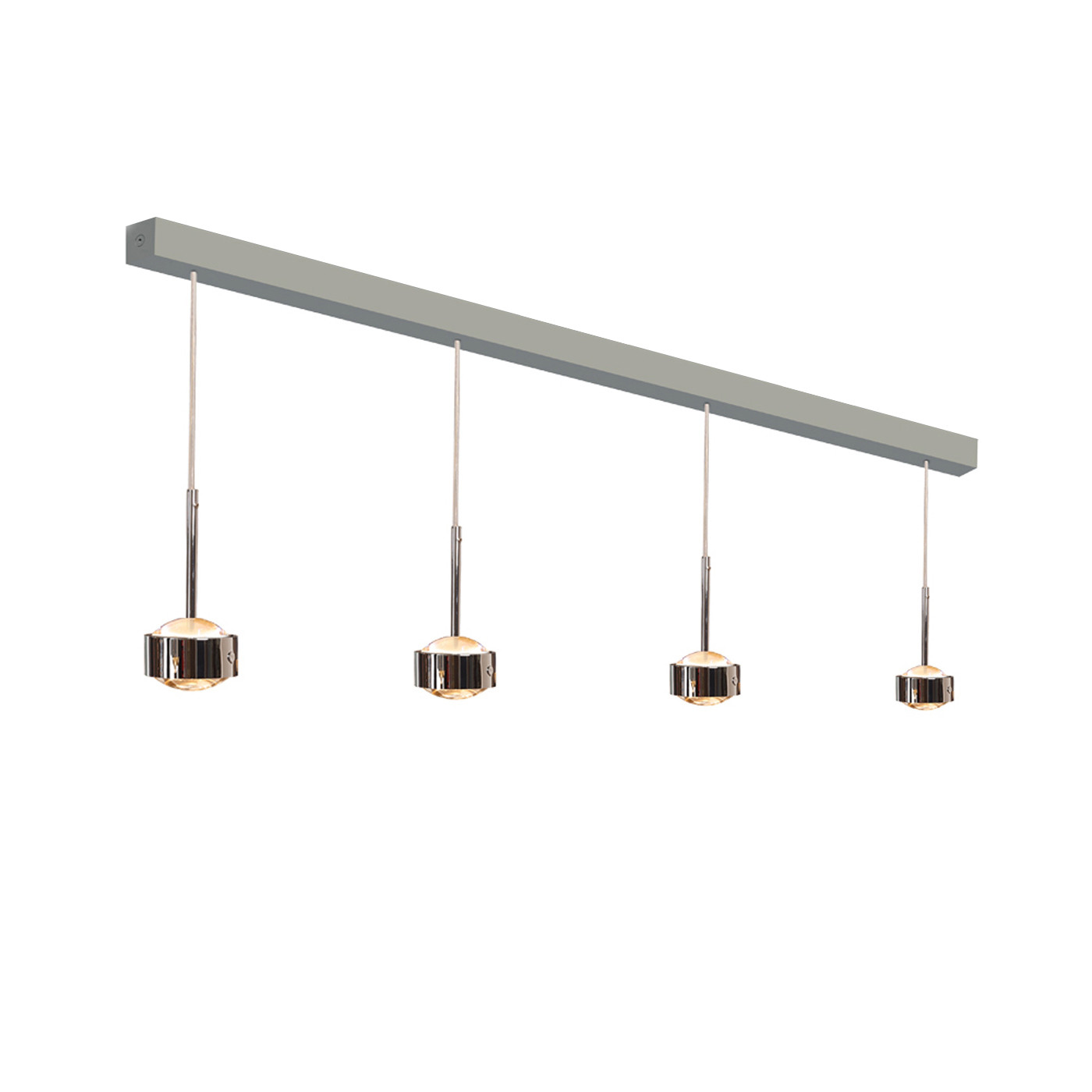 Top Light Puk Maxx Choice Drop 105 LED pendant lamp, with clear lenses