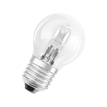Osram halogen lustre lamp P45 20W 230V E27 clear (equivalent to 25W conventional lamp)
