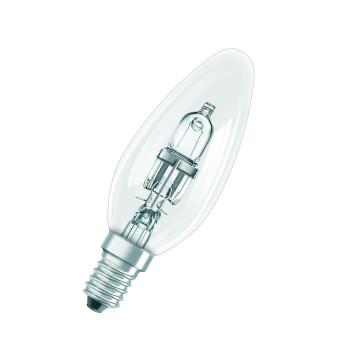 Halogen-Kerzenlampe B35 46W 230V E14 klar (entspricht der herkömml. 60W Lampe)