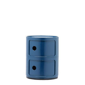 Kartell Componibili modules, two shelves, round, blue