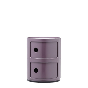Kartell Componibili modules, two shelves, round, violet