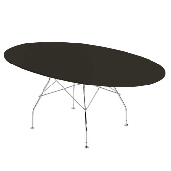 Kartell Glossy Polyester 4562, black table top
