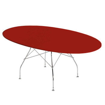 Kartell Glossy Polyester 4562, red table top