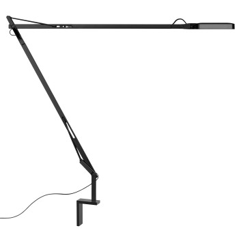Flos Kelvin LED mit Wandbefestigung, schwarz glänzend