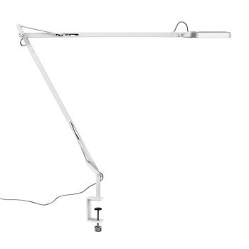 Flos Kelvin LED mit Tischklemme, weiß glänzend
