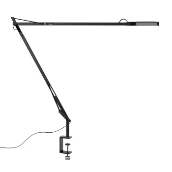 Flos Kelvin LED mit Tischklemme, schwarz glänzend