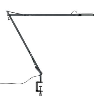 Flos Kelvin LED mit Tischklemme, anthrazit, matt