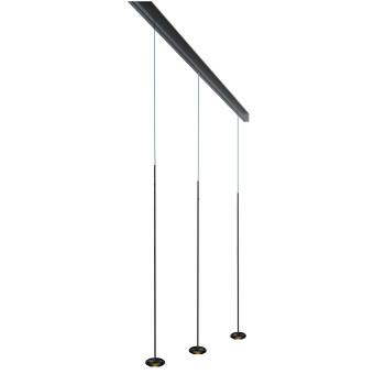 Anta Ny auf Schiene 194 cm, 3 Pendel ohne Höhenverstellung, schwarz
