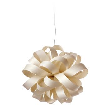 LZF Agatha Ball Pendelleuchte, American White Wood / elfenbeinweiß