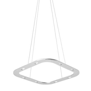 Byok Piani Quadro 48 Downlight Pendelleuchte, Aluminium poliert, Baldachin B3 (mit LEDs)