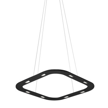 Byok Piani Quadro 48 Downlight Pendelleuchte, Aluminium schwarz matt, Baldachin B3 (mit LEDs)