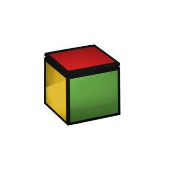 Cini & Nils Cuboluce, multi-coloured (yellow, green, blue, orange, red)