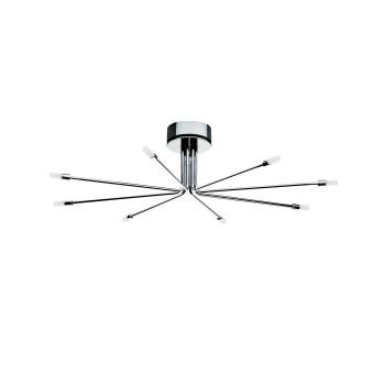 Cini & Nils Cini Light System Composizione, ⌀ 80 cm, mit 8 kurzen Armen (8C), mit Glaszylinder