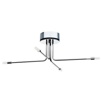 Cini & Nils Cini Light System Composizione, ⌀ 80 cm, mit 4 kurzen Armen (4C), mit Glaszylinder