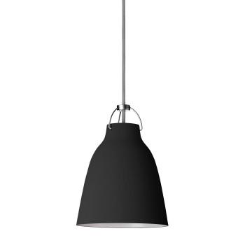 Fritz Hansen Caravaggio Matt P1, schwarz, mit grauem Kabel