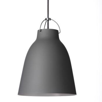 Fritz Hansen Caravaggio Matt P2, Grey45 (mittelgrau), mit grauem Kabel