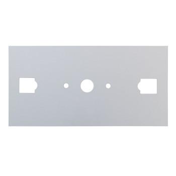 Serien Lighting SML Wall Halogen Wandabdeckplatte für Wandleuchte, große Ausführung (L), Aluminium silber eloxiert