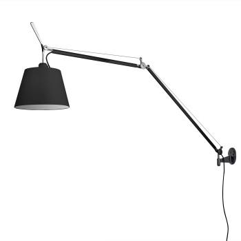 Artemide Tolomeo Mega Parete Black Edition, switch, ⌀ 32 cm
