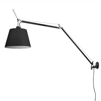Artemide Tolomeo Mega Parete Black Edition, switch, ⌀ 36 cm