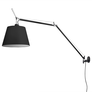 Artemide Tolomeo Mega Parete Black Edition, switch, ⌀ 42 cm