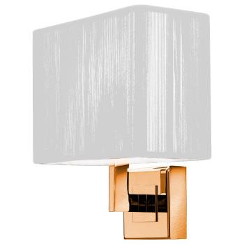 Axo Light Clavius AP BR, Struktur goldfarben, Seidenschirm weiß (elfenbein)