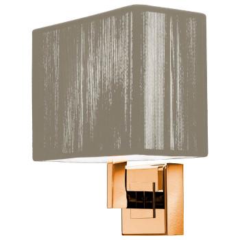 Axo Light Clavius AP BR, Struktur goldfarben, Seidenschirm sandfarben