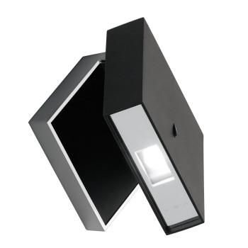 Vibia Alpha 7940 Wandleuchte, graphitgrau matt/schwarz