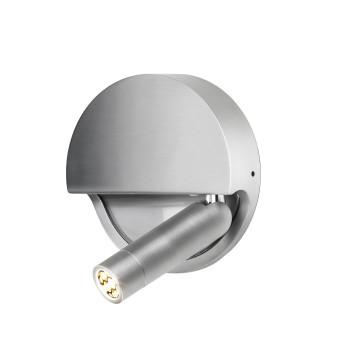 Marset Ledtube R, Reflektor rechts / Aluminium satiniert