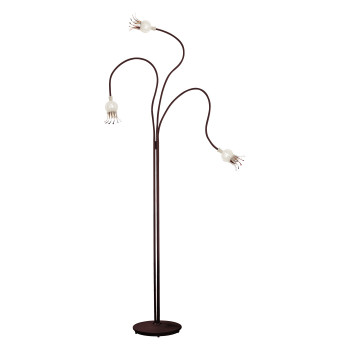 Serien Lighting Poppy Floor 3, Glasschirm keramik, Arm schwarz