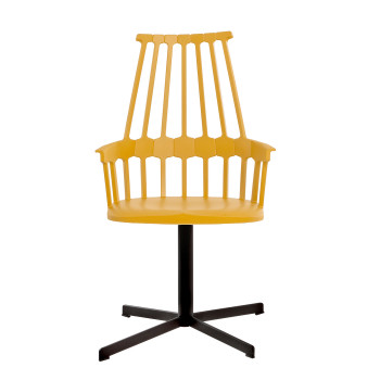 Kartell Comback 5952, yellow seat/ black structure