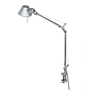 Artemide Tolomeo Midi LED mit Tischklemme, 2700K, aluminium