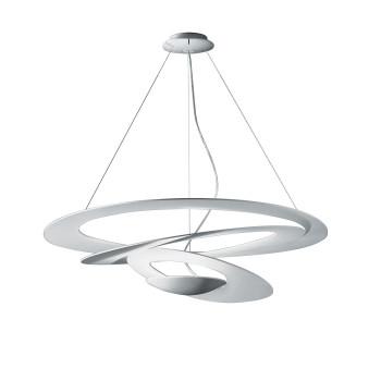 Artemide Pirce Sospensione LED, Struktur weiß matt, Lichtfarbe 2.700 Kelvin, für Phasenabschnittsdimmer