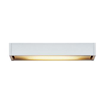 Serien Lighting SML Wall L, silber, Abdeckungen satiniert/gerastert