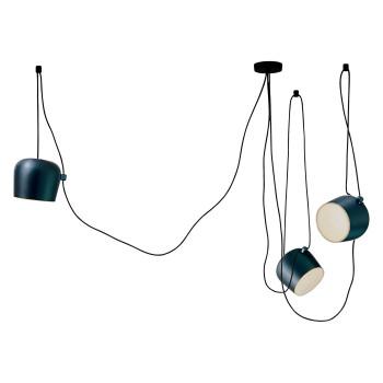 Flos Aim 3 Sospensione LED, anodised steel blue