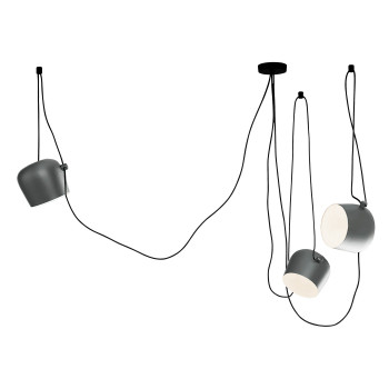 Flos Aim 3 Sospensione LED, anodised light silver