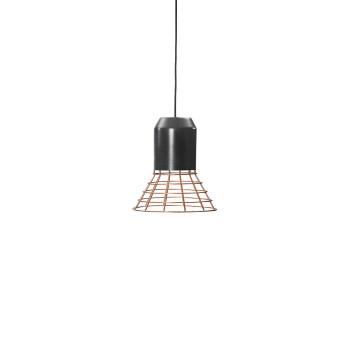 ClassiCon Bell Light Copper Pendelleuchte, Lampenfassung Aluminium grau lackiert