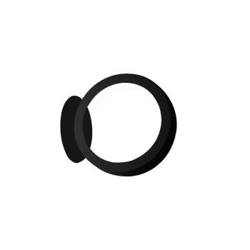 Cini & Nils Assolo Parete/Soffitto LED, schwarz mit runder Platte